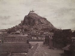View of the rock from the east [Tiruchchirappalli]